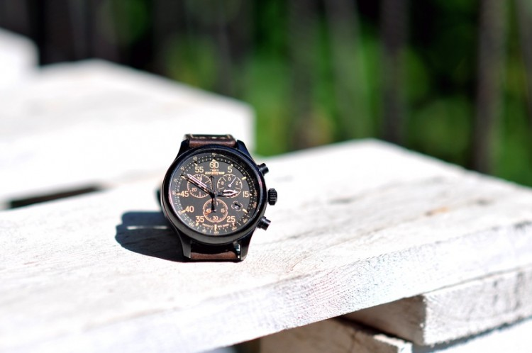 watch on wood