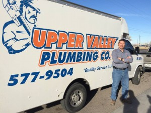 upper Valley plumbing co. using Breezeworks Software